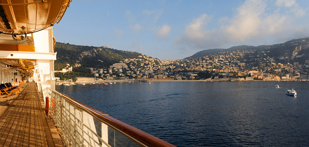 Enjoy the scenic Mediterranean from the comfort of the Disney Magic.