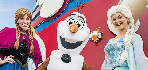 Join the onboard adventure with Anna, Olaf and Elsa.