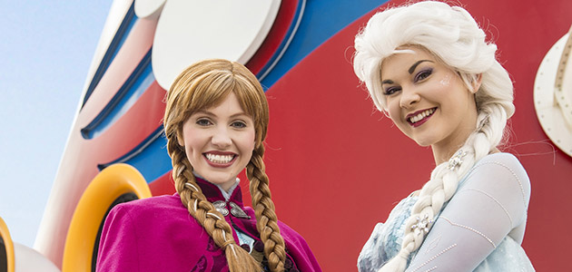 Join the onboard adventure with Anna and Elsa.