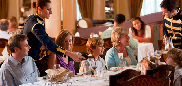 The Royal Palace restaurant offers a luxurious fine-dining experience for the whole family.