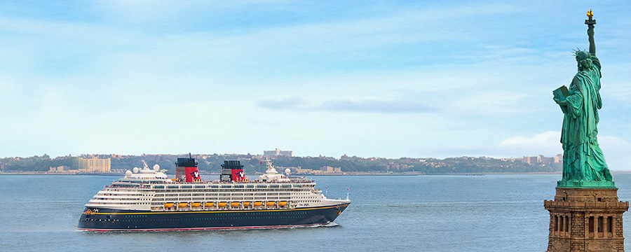 Embark on your Disney Cruise Line adventure from the vibrant city of New York.