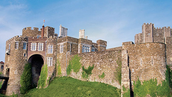 Discover history with a visit to the medieval castle in Dover.