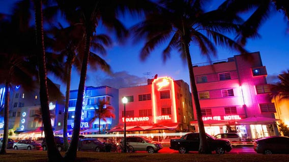 Enjoy shopping and sightseeing with a city break in bustling Miami.