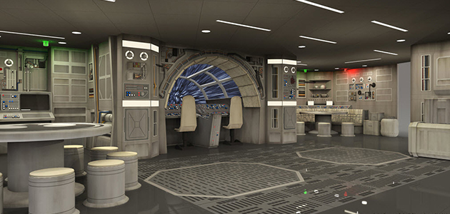 Take a ride in the Millennium Falcon in the new Star Wars play area.
