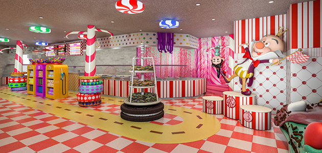 Indulge in sweet delights at Vanellope's Sweets & Treats.