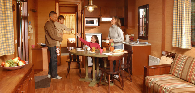 Cosy cabins are a perfect place to enjoy magical time with your family
