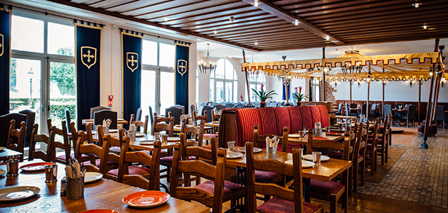 Dine in the style of the Three Musketeers at Musketeer's Restaurant.
