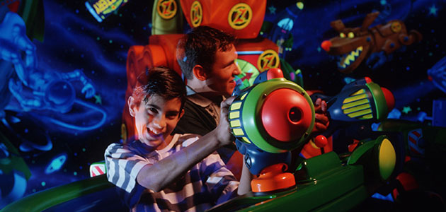 Defeat the evil Emperor Zurg on Buzz Lightyear's Laser Blast