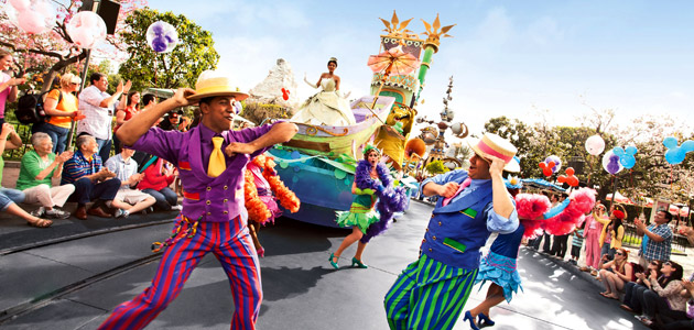 Experience the magic watching fascinating Disney Magic on Parade! with Mickey and his friends