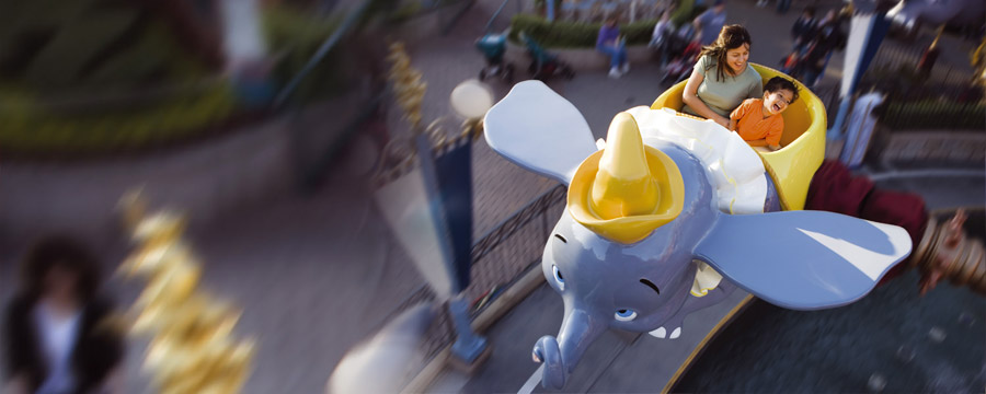 Dumbo the Flying Elephant at Fantasyland in Disneyland® Park