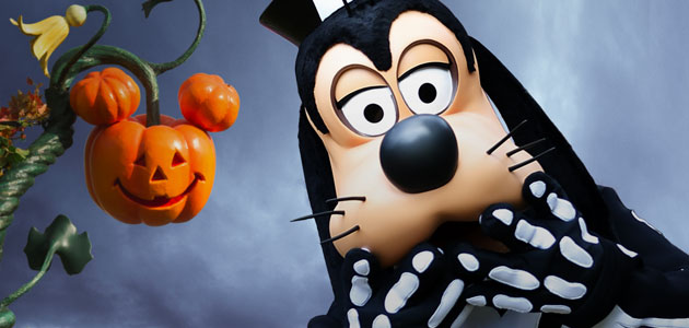 Join Goofy for his spooky procession.