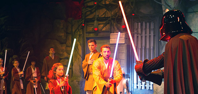 Feel the force at the Jedi Training Academy.