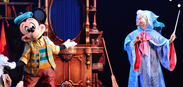 Dare to be dazzled by Mickey and the Magician at Animagique Theater.