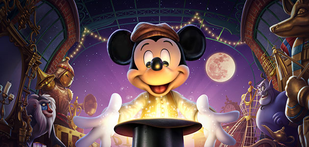 Dare to be dazzled by Mickey and the Magician, our breath-taking new show.