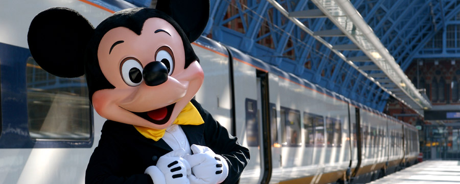 Mickey Mouse with a Eurostar™ train