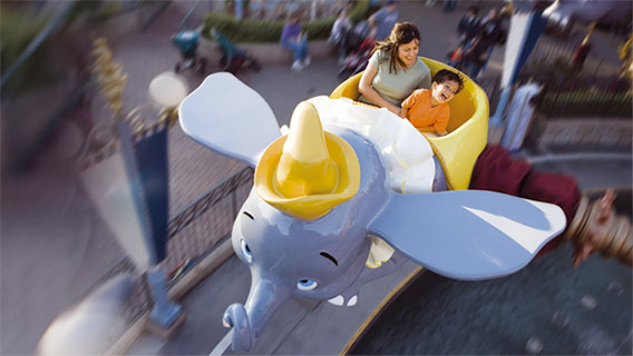 Dumbo the Flying Elephant at Fantasyland in Disneyland Park