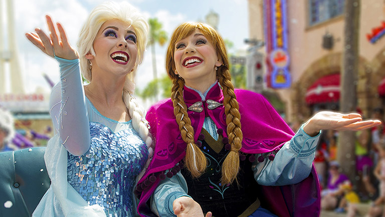 Join Anna and Elsa for some magical Frozen fun at Disneyland Paris.