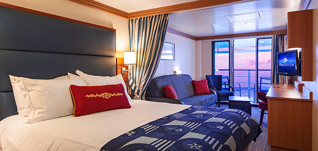 The Deluxe Family Oceanview Stateroom with Verandah