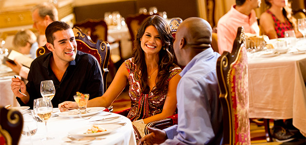 Enjoy fine Italian and French dining aboard Disney Cruise Line