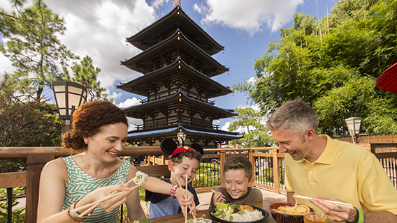 Family Dining at Katsura Grill in Epcot