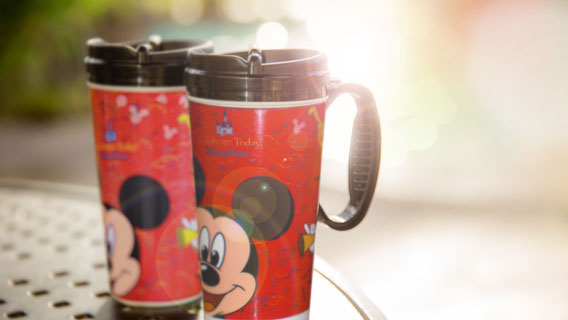 Refillable drink mug is eligible for refills at self-service beverage islands