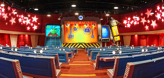 Inside the Laugh Floor at Monsters, Inc. Laugh Floor in Magic Kingdom Park.