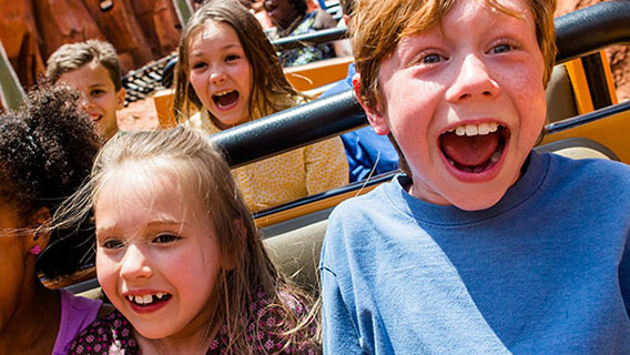 Children on Big Thunder Mountain in Magic Kingdom