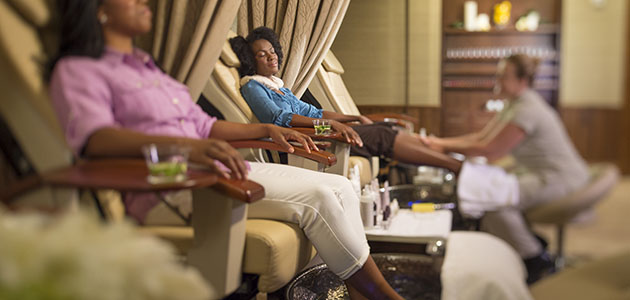 Guests relaxing at Senses - A Disney Spa