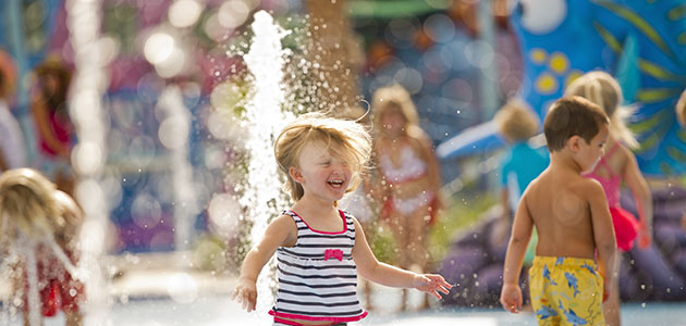 Young guest having fun at the themed Pools at Disney's Art of Animation Resort