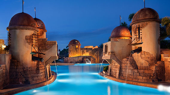 Fuentes del Morro Pool at Disney's Caribbean Beach Resort
