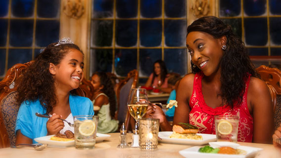 Family dining at Be our guest
