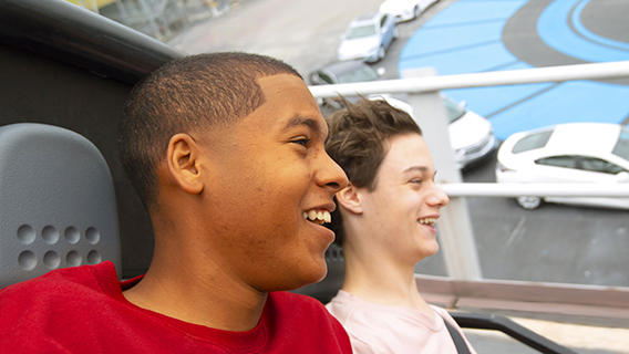 Teenagers at Test Track in Epcot
