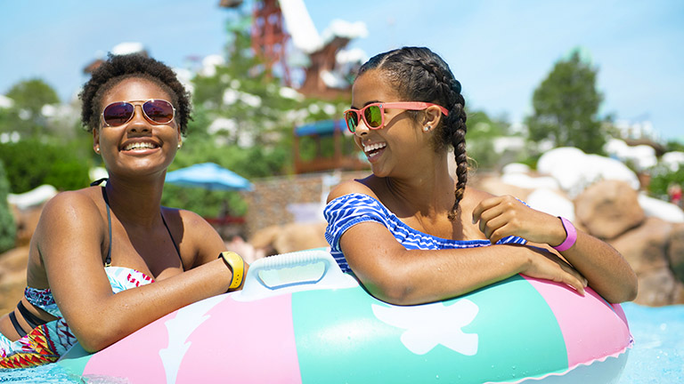 Teens in Melt Away Bay in Blizzard Beach