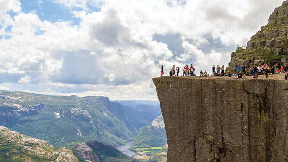 Enjoy magnificent views from Pulpit Rock, Stavanger