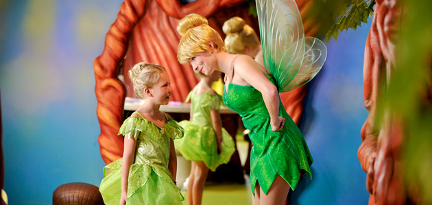 Meet Tinkerbell and her fairy friends at Pixie Hollow.