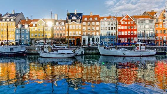 Enjoy the delights of Nyhavn Harbour in Copenhagen.