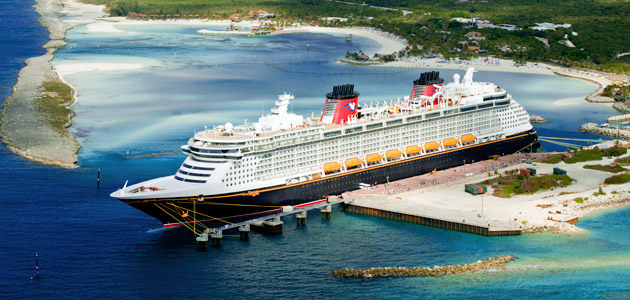 Disney Dream in port, Castaway Cay.