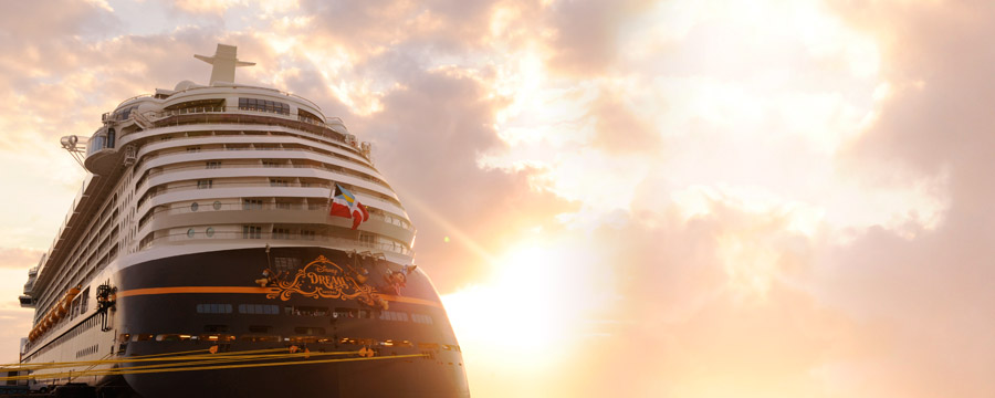 Disney Dream at sunset