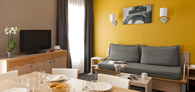 Enjoy the convenience of self-catering at Adagio Marne la Vallée Val d'Europe.