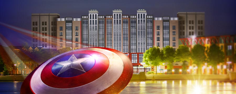 Exterior of Disney's Hotel New York - The Art of Marvel®