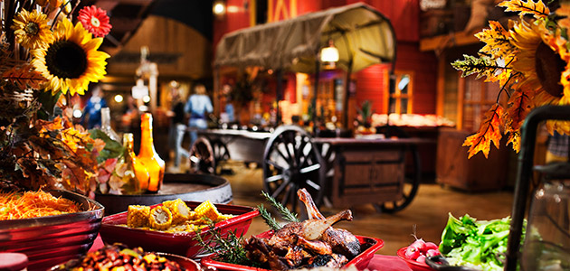 All-you-can eat dinner buffet at the Chuck Wagon restaurant