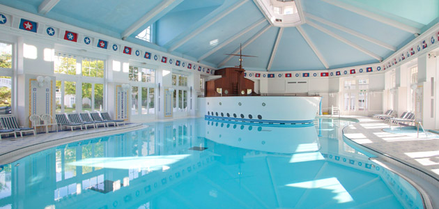 Swim in the pool or relax in the sauna at Nantucket Pool and Health Club