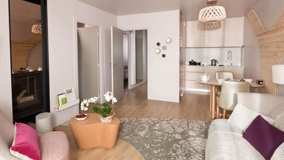 Cocoon VIP 2 Bedroom Apartment in Villages Nature® Paris