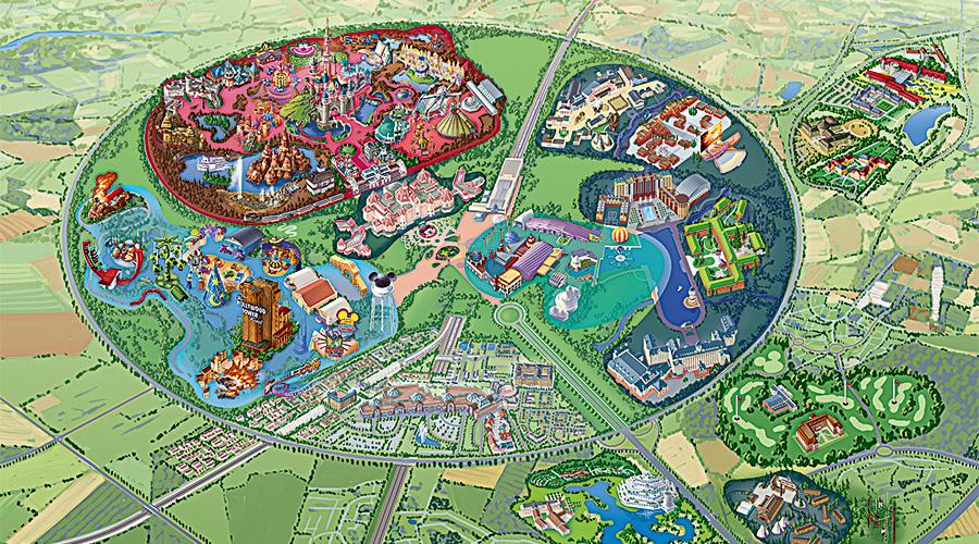 Map Of Disneyland Paris Disneyland Paris