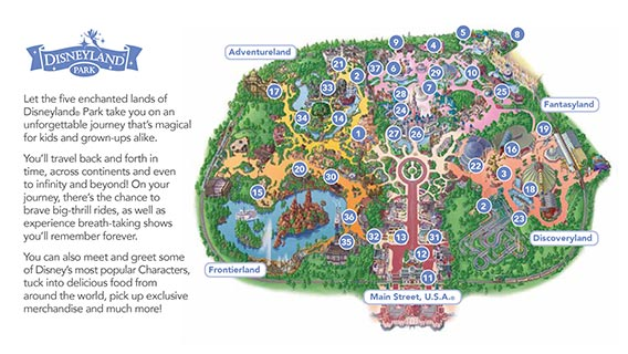 Download map of Disneyland Park