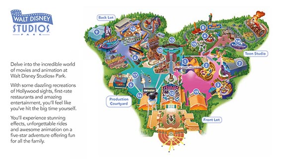 Download map of Walt Disney Studios Park