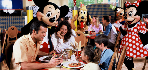 Enjoy a meal in the company of some of your favourite Disney Characters