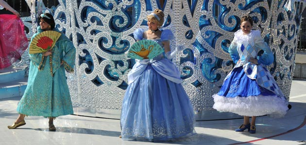 Disney Princesses Waltz on the Royal Castle stage