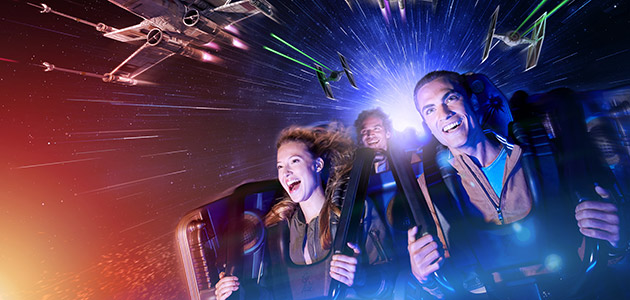 Jump on-board a galactic adventure on Star Wars Hyperspace Mountain