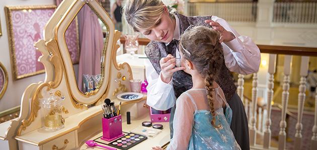 Treat your Princess to a makeover at the Princess Pavilion.